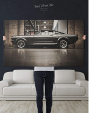 Ford Mustang GT 500 Canvas Wall Art - Image 2