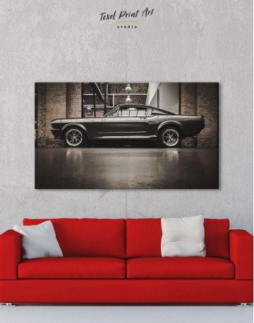 Ford Mustang GT 500 Canvas Wall Art