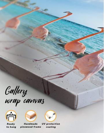 Coast and Flamingo Canvas Wall Art - image 1