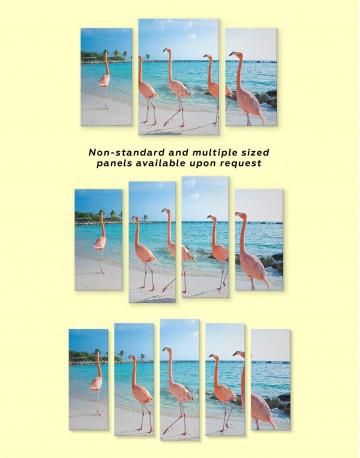 Coast and Flamingo Canvas Wall Art - image 3