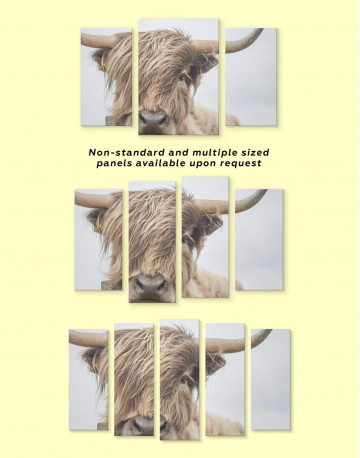 Highland Cow Canvas Wall Art - image 3