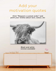Highland Cow Canvas Wall Art - image 4