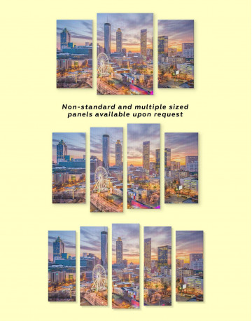 Atlanta Skyline Canvas Wall Art - image 3