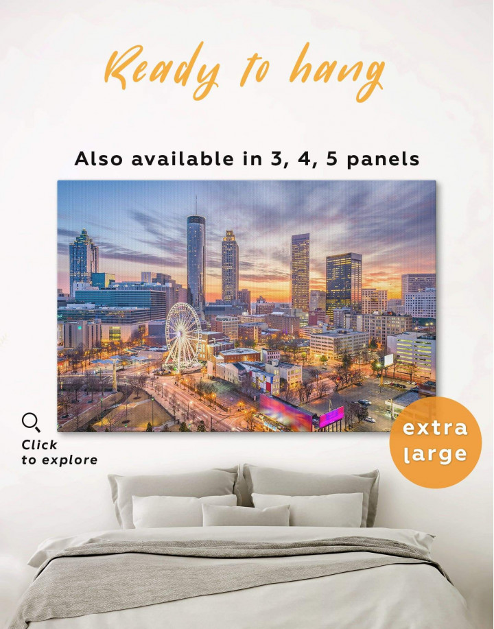 Atlanta Skyline Canvas Wall Art - Image 0
