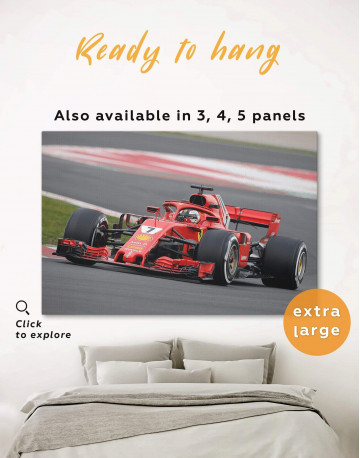Formula 1 Bolid Canvas Wall Art