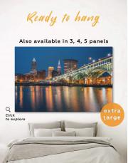 Cleveland Skyline Canvas Wall Art - Image 0