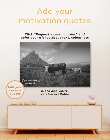 Cows on Pasture Canvas Wall Art - image 4