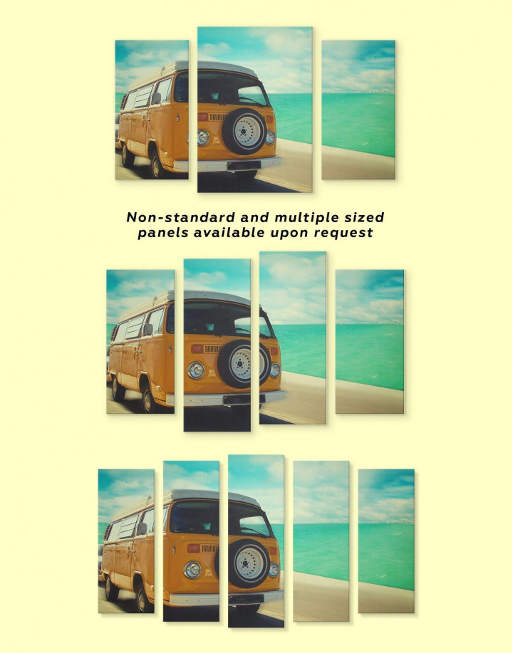 Camper Van Canvas Wall Art - Image 2