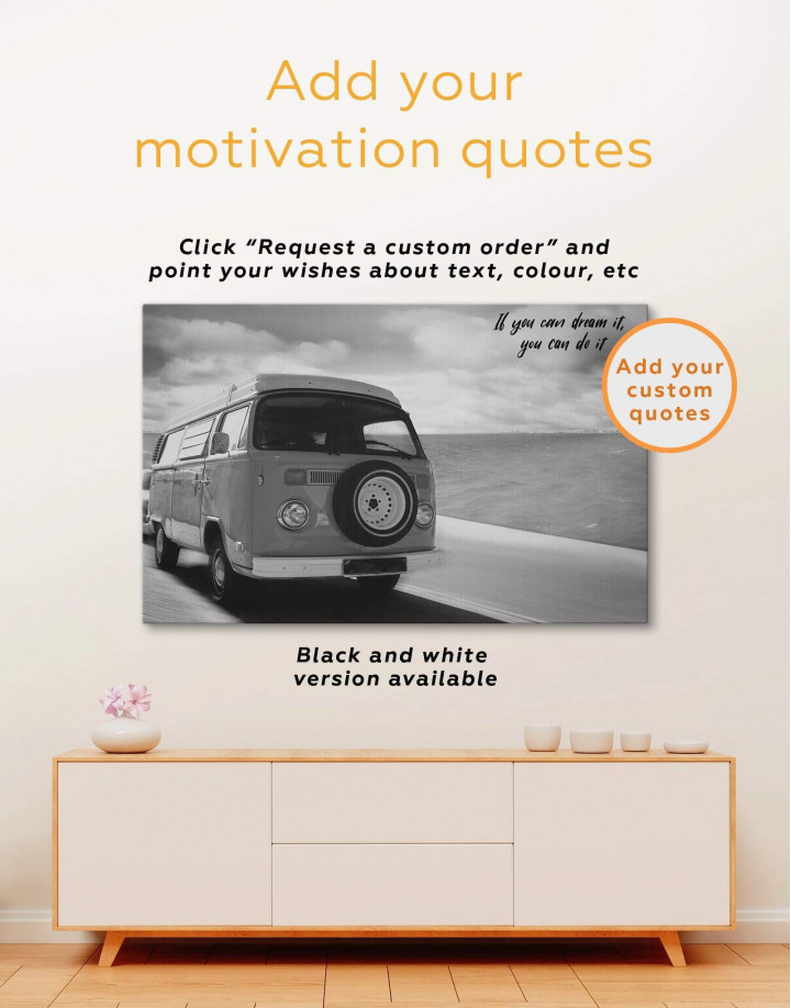 Camper Van Canvas Wall Art - Image 1
