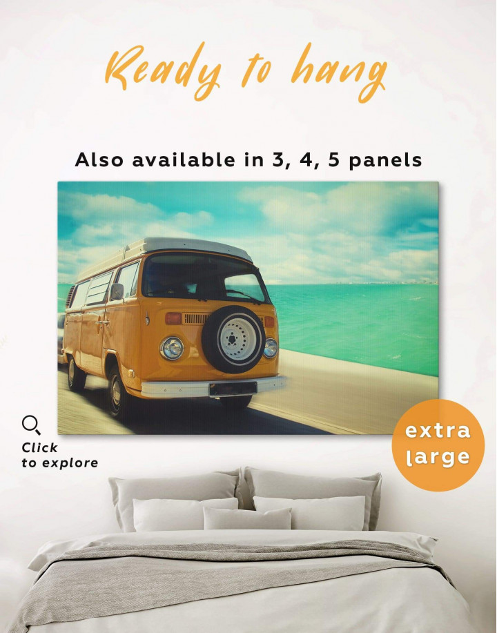 Camper Van Canvas Wall Art - Image 0