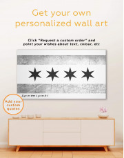 Chicago Flag Canvas Wall Art - Image 1