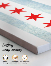 Chicago Flag Canvas Wall Art - Image 4