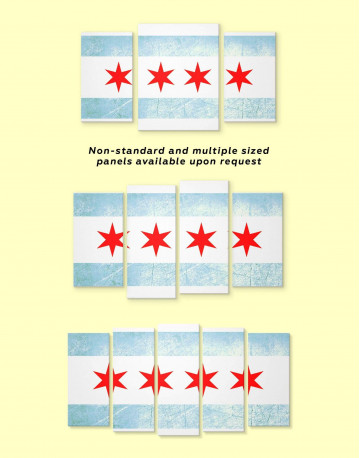 Chicago Flag Canvas Wall Art - image 2