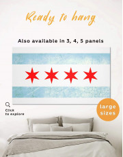 Chicago Flag Canvas Wall Art - Image 0