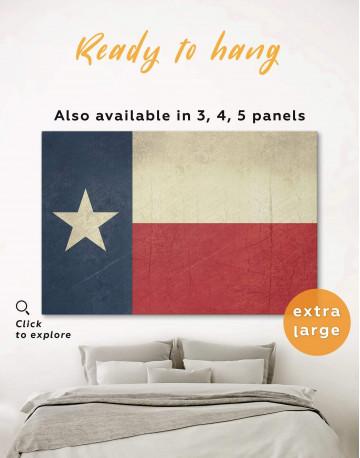 Texas Flag Canvas Wall Art