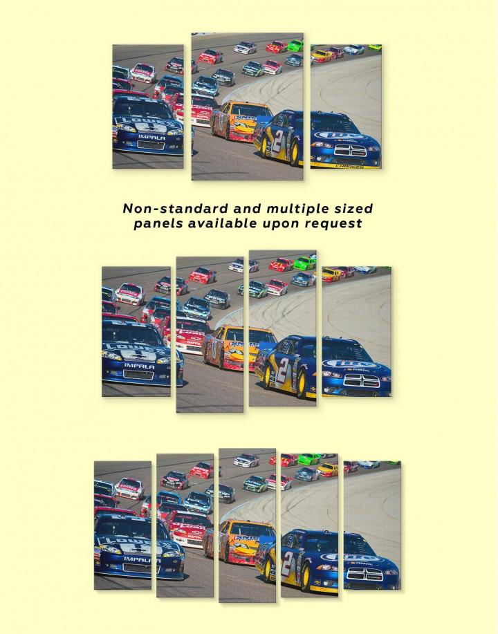 Car Racing Canvas Wall Art - Image 3