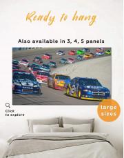 Car Racing Canvas Wall Art - Image 0