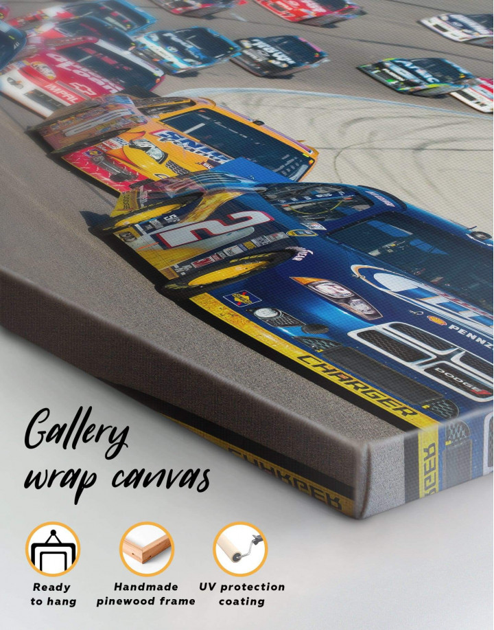 Car Racing Canvas Wall Art - Image 1