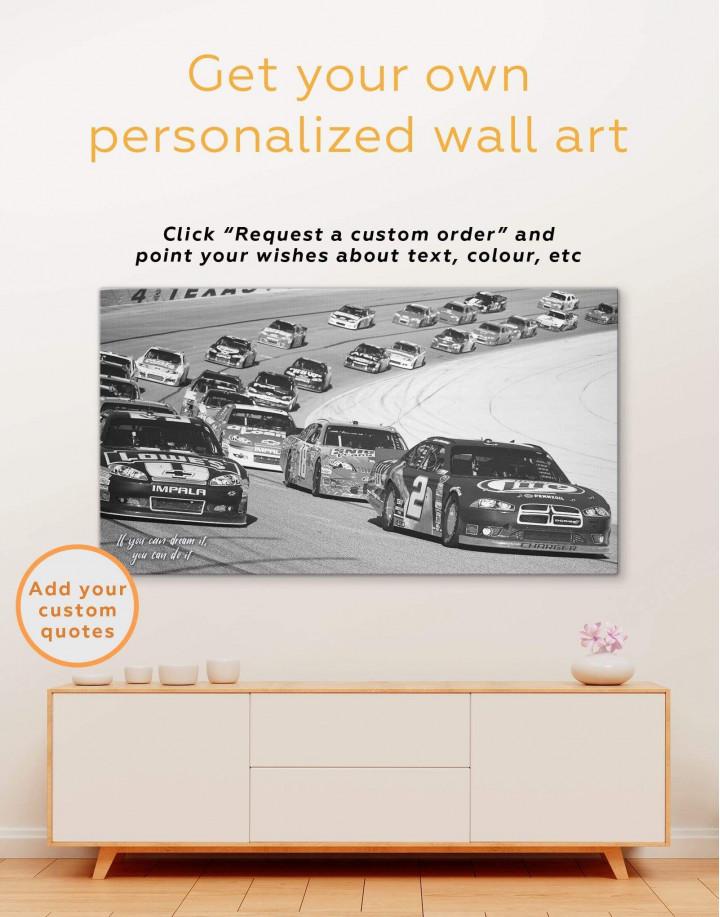 Car Racing Canvas Wall Art - Image 4