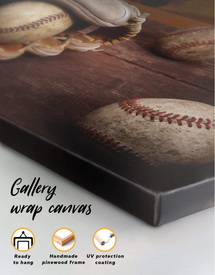 Baseball Game Canvas Wall Art - Image 1