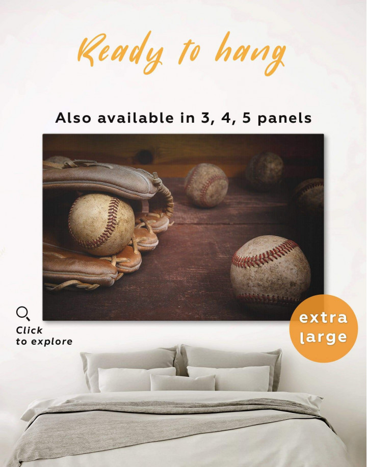 Baseball Game Canvas Wall Art - Image 0