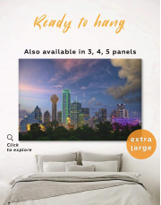 Dallas Skyline Canvas Wall Art - Image 0