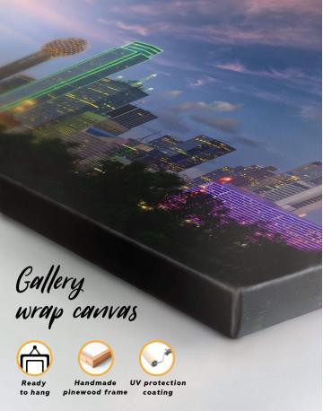 Dallas Skyline Canvas Wall Art - image 1