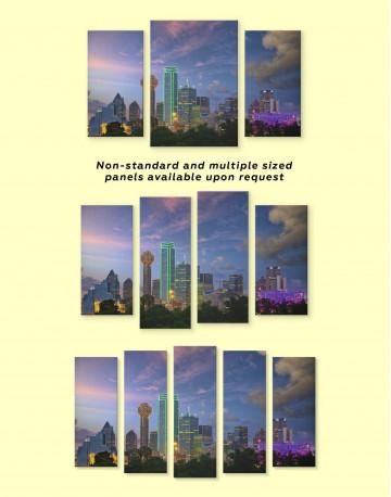 Dallas Skyline Canvas Wall Art - image 3