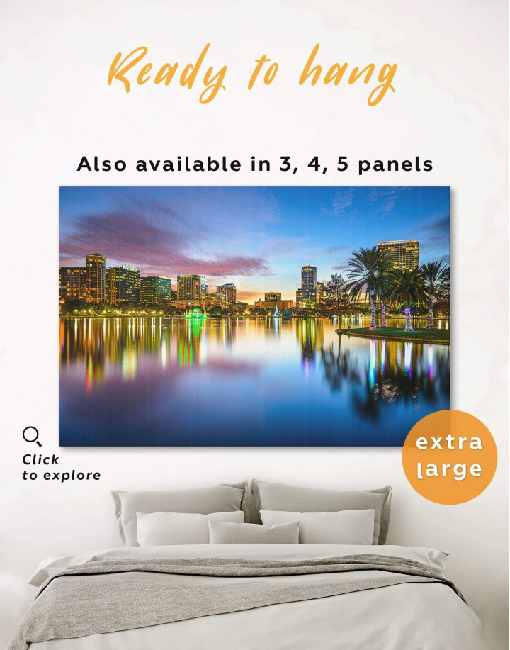 Orlando Skyline Canvas Wall Art - Image 0