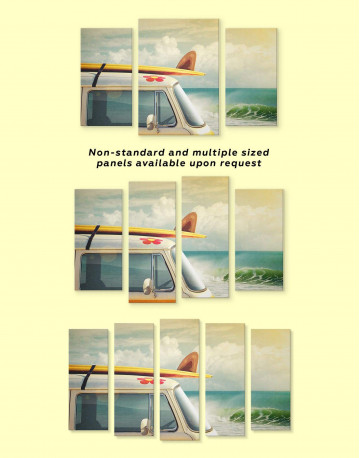 Van by the Seaside Canvas Wall Art - image 3