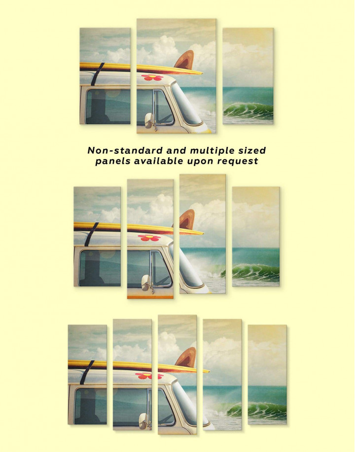 Van by the Seaside Canvas Wall Art - Image 2