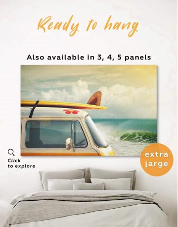 Van by the Seaside Canvas Wall Art