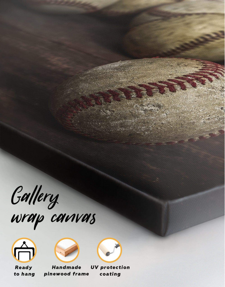 Baseball Inspirational Canvas Wall Art - Image 1