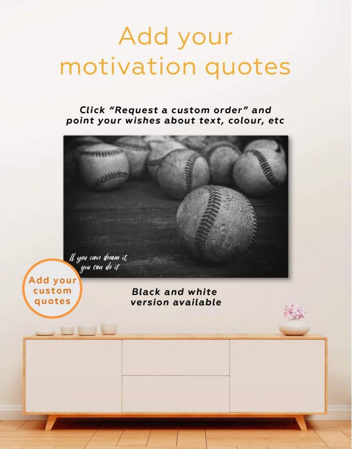 Baseball Inspirational Canvas Wall Art - Image 4