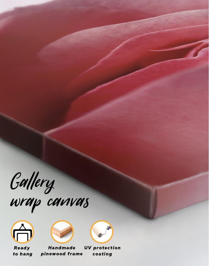 Erotic Pink Rose Canvas Wall Art - Image 4