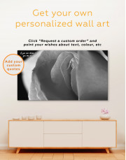 Erotic Pink Rose Canvas Wall Art - Image 2