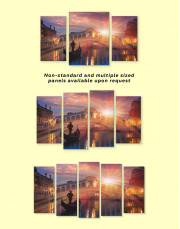 Venice Skyline at Sunset Canvas Wall Art - image 2