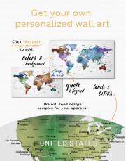 Multicolored Travel Push Pin Canvas Wall Art - Image 3