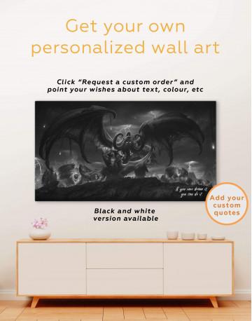 Illidan World of Warcraft Canvas Wall Art - image 6