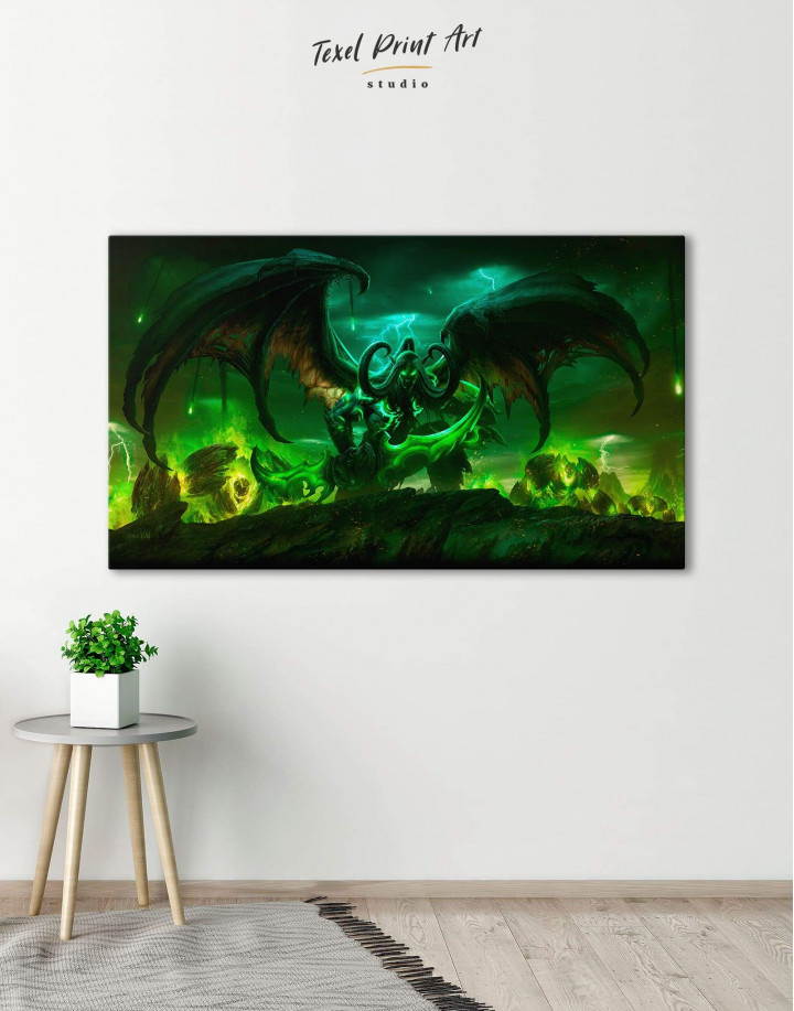 Illidan World of Warcraft Canvas Wall Art