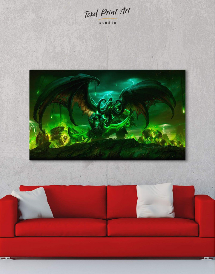 Illidan World of Warcraft Canvas Wall Art - Image 1