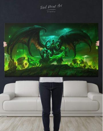 Illidan World of Warcraft Canvas Wall Art - image 2