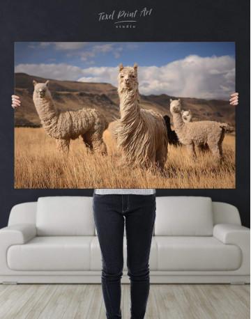Wild Llamas Canvas Wall Art - image 2