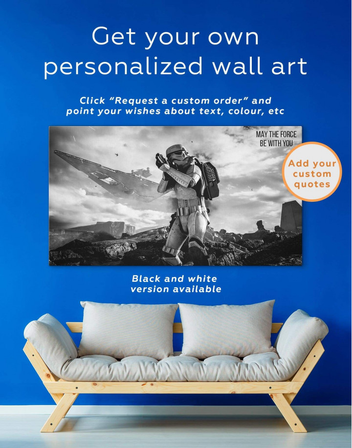 Storm Trooper Star Wars Canvas Wall Art - Image 1