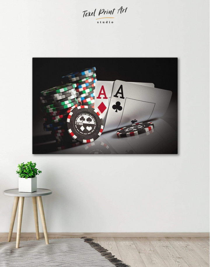 Poker Set Canvas Wall Art - Image 0