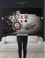 Poker Set Canvas Wall Art - Image 5