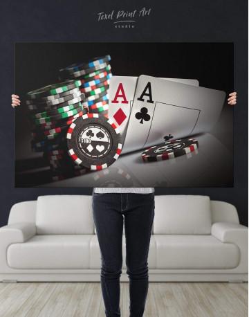 Poker Set Canvas Wall Art - image 5
