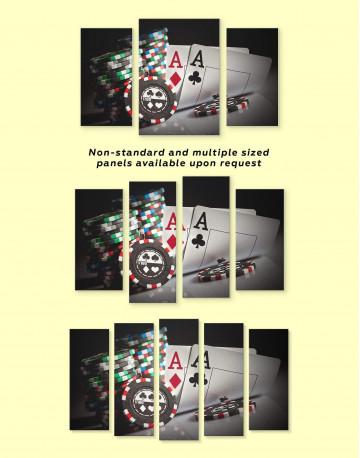 Poker Set Canvas Wall Art - image 2