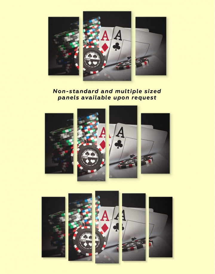 Poker Set Canvas Wall Art - Image 2