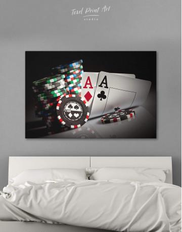Poker Set Canvas Wall Art - image 6